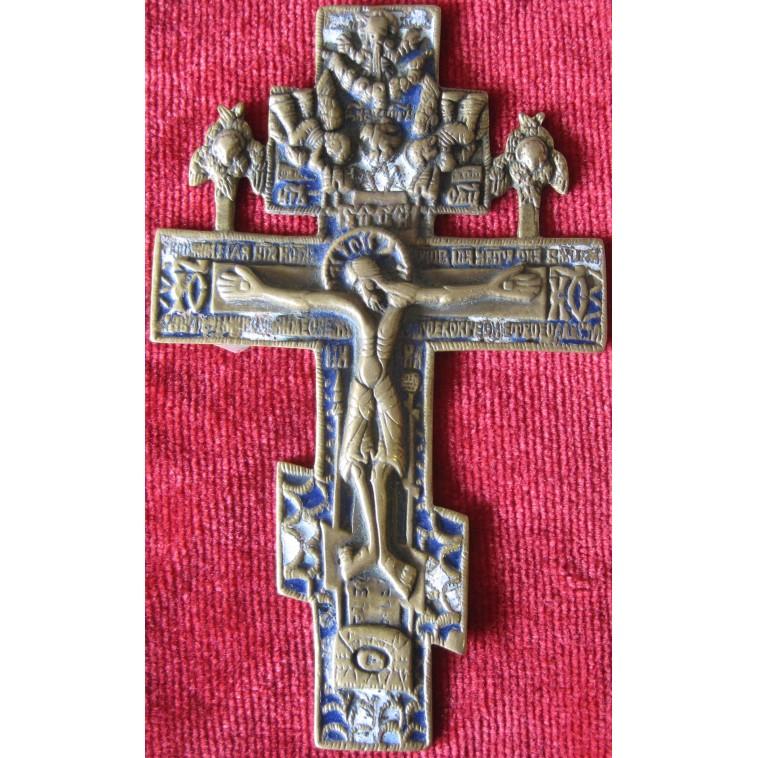 Cross bronze with enamels