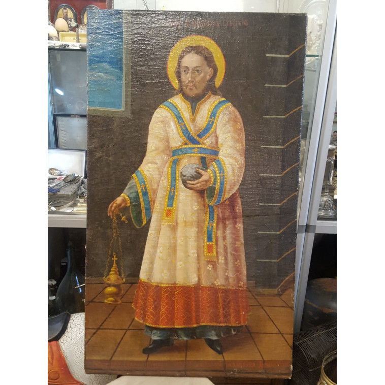 Saint Stefan on canvas